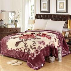经典系列拉舍尔涤纶毯 195cm×230cm±5 210灰