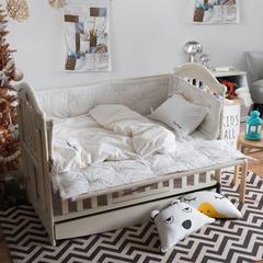 2018新款水洗棉儿童六件套 1.5m(5英尺)床 白色