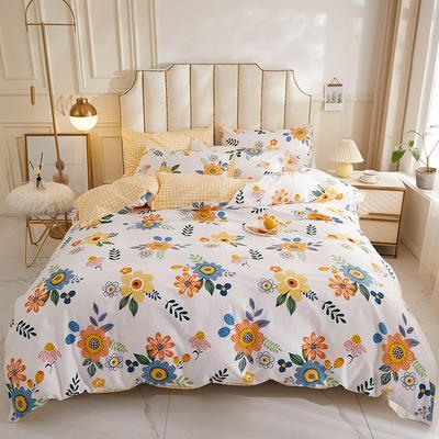 2019新款小清新12868全棉四件套 1.2m床单款三件套 秘密花园