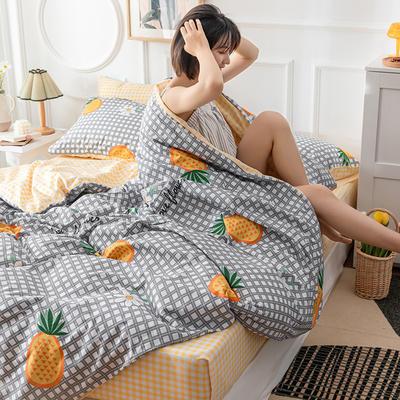 2019新款小清新12868全棉四件套 1.2m床单款三件套 菠萝花语