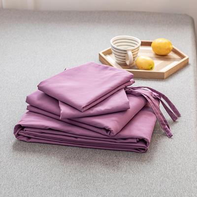 2020新款日系格子乐肤棉四件套 1.2m床单款四件套 简约紫