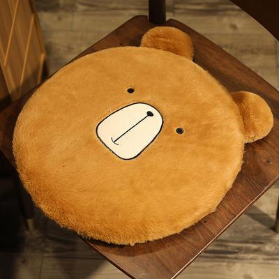 2020新款卡通兔毛坐垫地垫 直径40*40cm 小熊