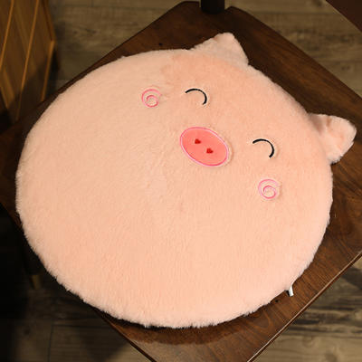 2020新款卡通兔毛坐垫地垫 直径40*40cm 猪