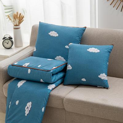 2020新款精舒棉系列抱枕被 40*40展开105*150cm 蓝天白云