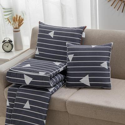 2020新款精舒棉系列抱枕被 40*40展开105*150cm 线条风格