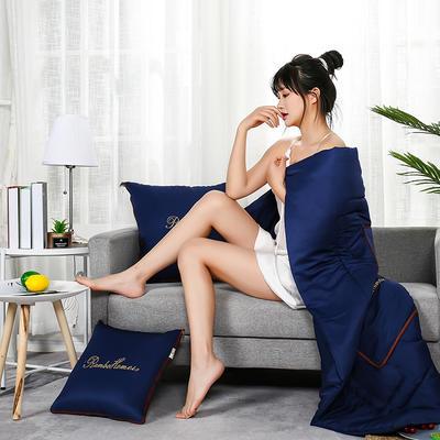 2021新款轻奢刺绣款抱枕被 45x45cm展开被子120*160cm 宝石湖蓝