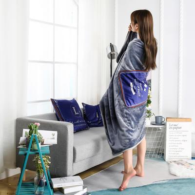 2020新款多功能披肩抱枕毯 35*35cm毯子110*150cm普通 和平鸽