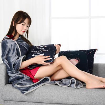 2021新款多功能披肩抱枕毯 45*45cm毯子150*200cm普通 米兰达