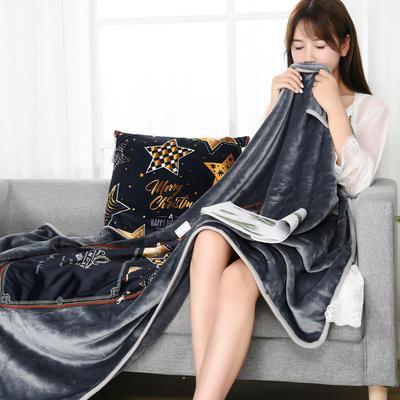 2021新款多功能披肩抱枕毯 45*45cm毯子150*200cm普通 圣诞之星
