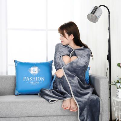 2020新款多功能披肩抱枕毯 35*35cm毯子110*150cm普通 时尚纽约