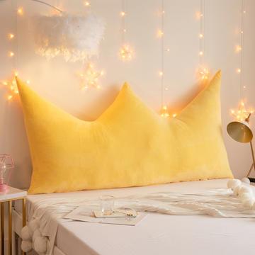 2019新款皇冠床头靠垫公主风抱枕靠垫双人长靠枕床头板软包床上护腰靠背垫