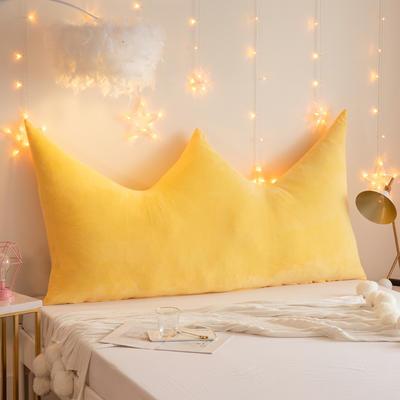2019新款皇冠床头靠垫公主风抱枕靠垫双人长靠枕床头板软包床上护腰靠背垫 0.9m 黄色