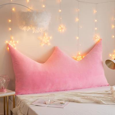 2019新款皇冠床头靠垫公主风抱枕靠垫双人长靠枕床头板软包床上护腰靠背垫 0.9m 粉色