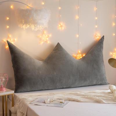 2019新款皇冠床头靠垫公主风抱枕靠垫双人长靠枕床头板软包床上护腰靠背垫 0.9m 灰色