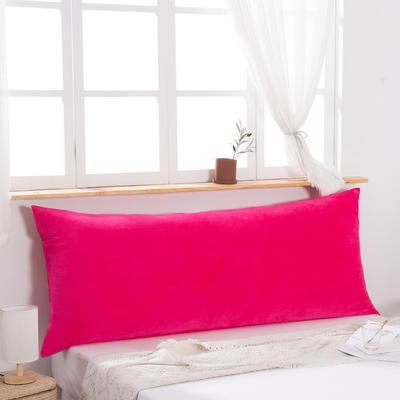 2019新款北欧床头靠垫纯色双人枕头大靠背卧室网红公主风床上抱枕长条靠枕 0.9m 大红