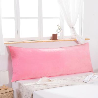 2019新款北欧床头靠垫纯色双人枕头大靠背卧室网红公主风床上抱枕长条靠枕 0.9m 粉色