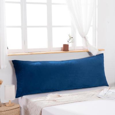 2019新款北欧床头靠垫纯色双人枕头大靠背卧室网红公主风床上抱枕长条靠枕 0.9m 蓝色