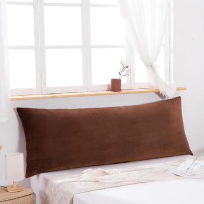 2019新款北欧床头靠垫纯色双人枕头大靠背卧室网红公主风床上抱枕长条靠枕 0.9m 驼色