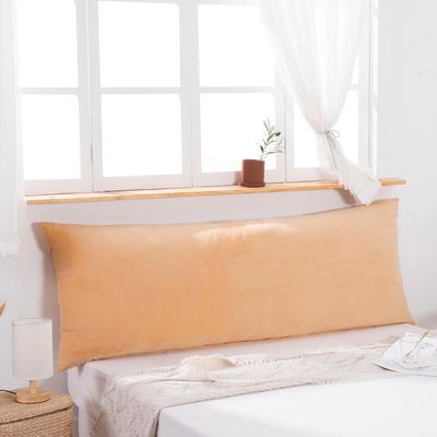 2019新款北欧床头靠垫纯色双人枕头大靠背卧室网红公主风床上抱枕长条靠枕 0.9m 玉色