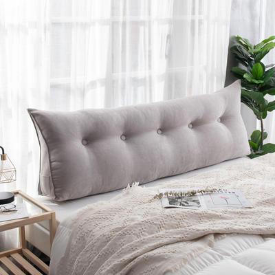 2019新款简约床头靠垫三角双人沙发抱枕大靠背榻榻米软包可拆洗床上长靠枕 0.6m 银石灰