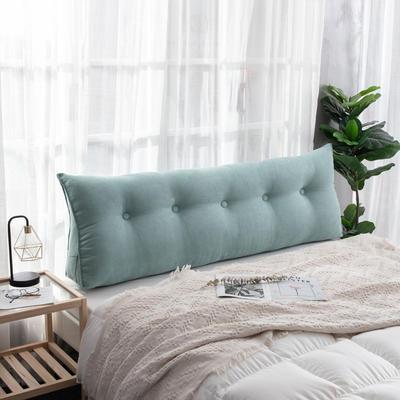 2019新款简约床头靠垫三角双人沙发抱枕大靠背榻榻米软包可拆洗床上长靠枕 0.6m 湖蓝