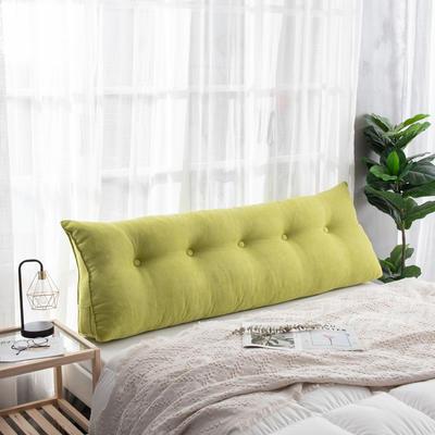 2019新款简约床头靠垫三角双人沙发抱枕大靠背榻榻米软包可拆洗床上长靠枕 0.6m 果绿
