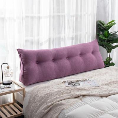 2019新款简约床头靠垫三角双人沙发抱枕大靠背榻榻米软包可拆洗床上长靠枕 0.6m 罗兰紫