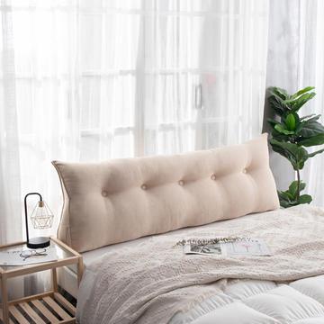2019新款简约床头靠垫三角双人沙发抱枕大靠背榻榻米软包可拆洗床上长靠枕