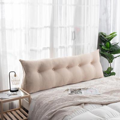 2019新款简约床头靠垫三角双人沙发抱枕大靠背榻榻米软包可拆洗床上长靠枕 0.6m 浅米灰
