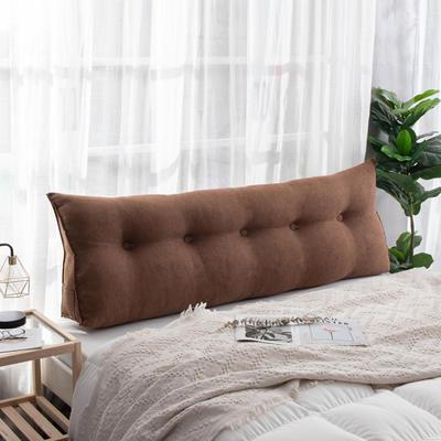 2019新款简约床头靠垫三角双人沙发抱枕大靠背榻榻米软包可拆洗床上长靠枕 0.6m 乌木咖