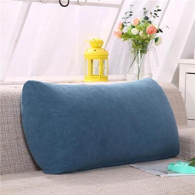 2019新款床头抱枕靠垫客厅沙发靠背垫办公椅靠垫腰枕汽车护腰靠枕可拆洗 65*35*17 宝蓝