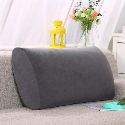 2019新款床头抱枕靠垫客厅沙发靠背垫办公椅靠垫腰枕汽车护腰靠枕可拆洗 65*35*17 黑灰