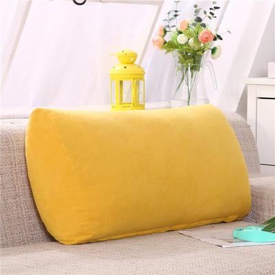 2019新款床头抱枕靠垫客厅沙发靠背垫办公椅靠垫腰枕汽车护腰靠枕可拆洗 65*35*17 黄色