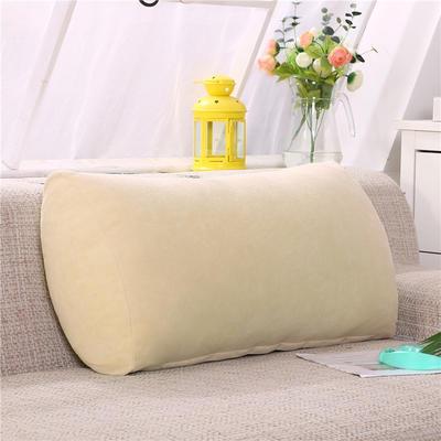 2019新款床头抱枕靠垫客厅沙发靠背垫办公椅靠垫腰枕汽车护腰靠枕可拆洗 65*35*17 米黄