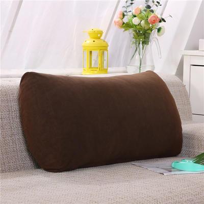 2019新款床头抱枕靠垫客厅沙发靠背垫办公椅靠垫腰枕汽车护腰靠枕可拆洗 65*35*17 暖咖