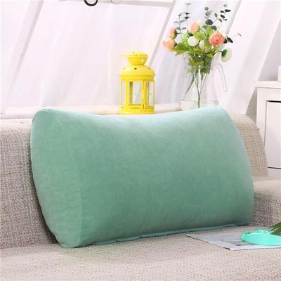 2019新款床头抱枕靠垫客厅沙发靠背垫办公椅靠垫腰枕汽车护腰靠枕可拆洗 65*35*17 水绿
