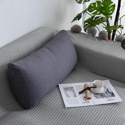 2019新款客厅沙发抱枕靠垫沙发大靠背软包榻榻米靠背枕沙发护腰腰枕可拆洗 70X35X17cm 黑灰