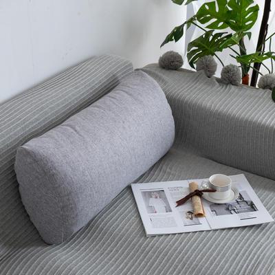 2019新款客厅沙发抱枕靠垫沙发大靠背软包榻榻米靠背枕沙发护腰腰枕可拆洗 70X35X17cm 灰白