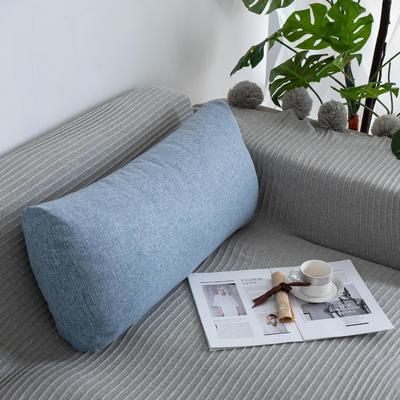 2019新款客厅沙发抱枕靠垫沙发大靠背软包榻榻米靠背枕沙发护腰腰枕可拆洗 70X35X17cm 蓝白
