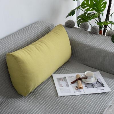 2019新款客厅沙发抱枕靠垫沙发大靠背软包榻榻米靠背枕沙发护腰腰枕可拆洗 70X35X17cm 绿黄