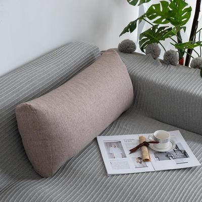 2019新款客厅沙发抱枕靠垫沙发大靠背软包榻榻米靠背枕沙发护腰腰枕可拆洗 70X35X17cm 浅咖