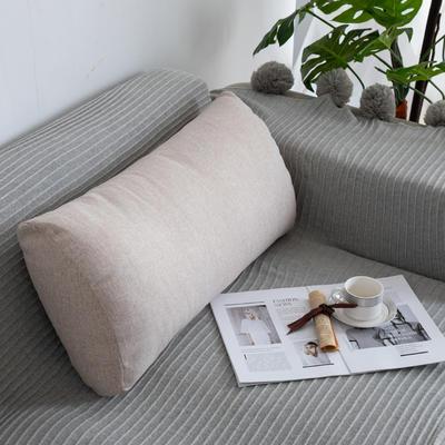 2019新款客厅沙发抱枕靠垫沙发大靠背软包榻榻米靠背枕沙发护腰腰枕可拆洗 70X35X17cm 浅卡其