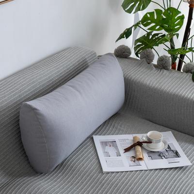 2019新款客厅沙发抱枕靠垫沙发大靠背软包榻榻米靠背枕沙发护腰腰枕可拆洗 70X35X17cm 银灰