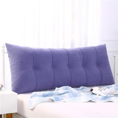 2019新款长方形床头靠垫三角沙发大靠背软包榻榻米床上靠枕可拆洗靠背垫-富贵绒 60*55*20CM 淡紫
