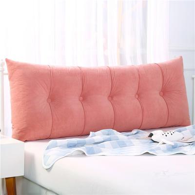 2019新款长方形床头靠垫三角沙发大靠背软包榻榻米床上靠枕可拆洗靠背垫-富贵绒 60*55*20CM 豆沙