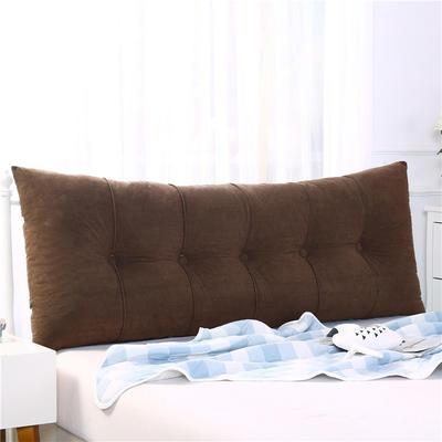 2019新款长方形床头靠垫三角沙发大靠背软包榻榻米床上靠枕可拆洗靠背垫-富贵绒 60*55*20CM 暖咖