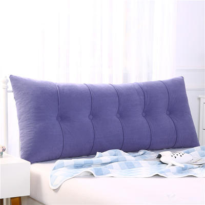 2020新款长条压条靠垫 60*55*20CM(长高厚) 淡紫-富贵绒