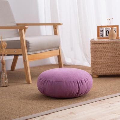2020新款素色蒲团坐垫 直径40CM   厚度12CM 罗兰紫-韩国绒