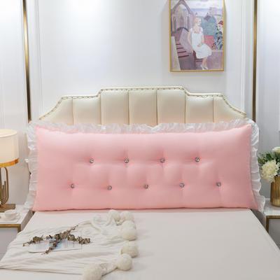 2020新款可拆洗韩版床头靠枕 100*60*20cm 粉玉