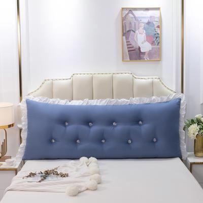 2020新款可拆洗韩版床头靠枕 100*60*20cm 皇家蓝